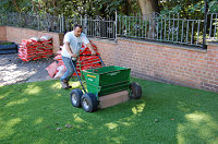 how to put down artificial lawn